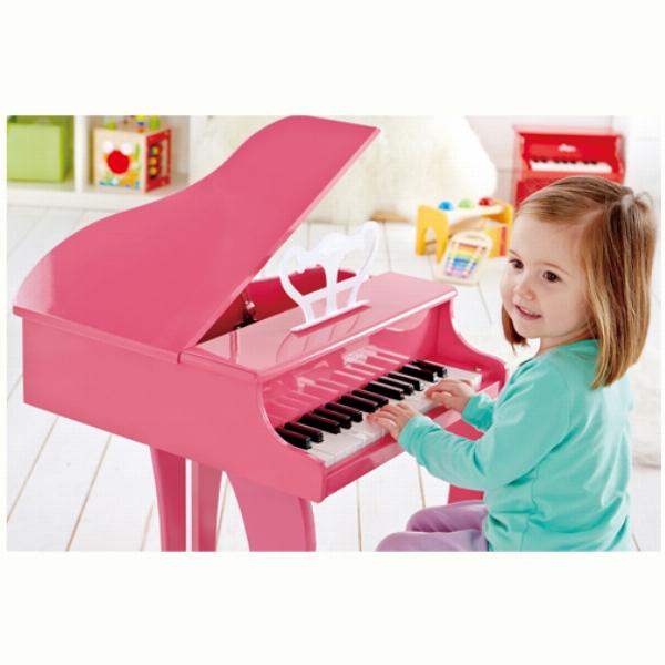 PIANO INFANTIL DE JUGUETE ELÉCTRICO ROSA